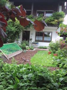 HAusansicht hinter mit Garten